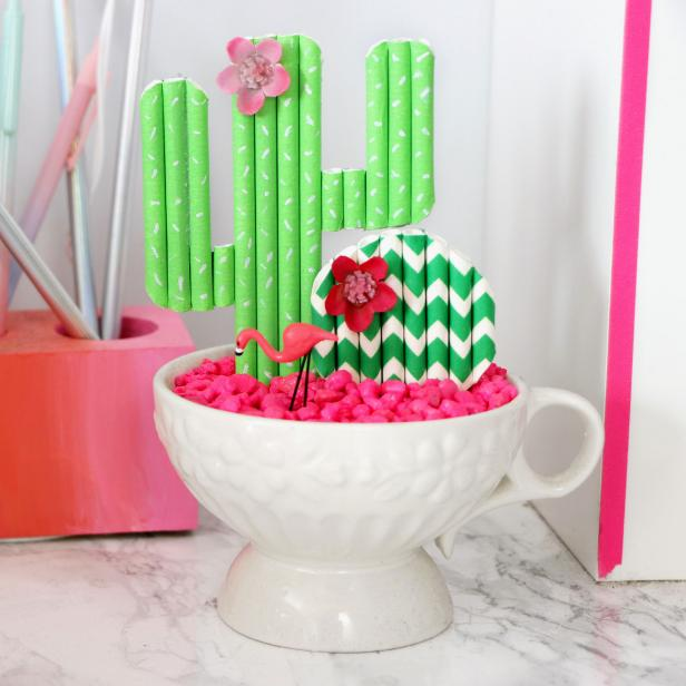 DIY Paper Straw Crafts: Cute Cacti