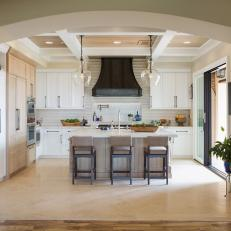 Neutral Chef Kitchen With Oversized Pendants