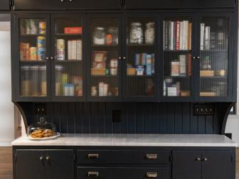 Rippled Glass Kitchen Cabinets