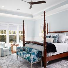 Coastal Farmhouse Master Bedroom