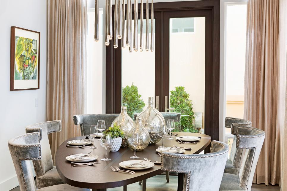 Dining Room With Gray Chairs