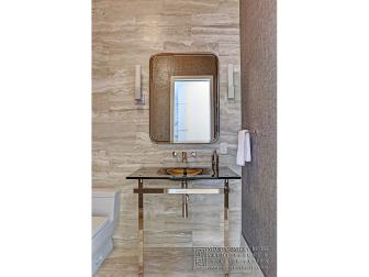 Metallic Modern Powder Room