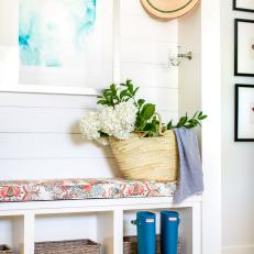 Cottage Mudroom With Blue Boots