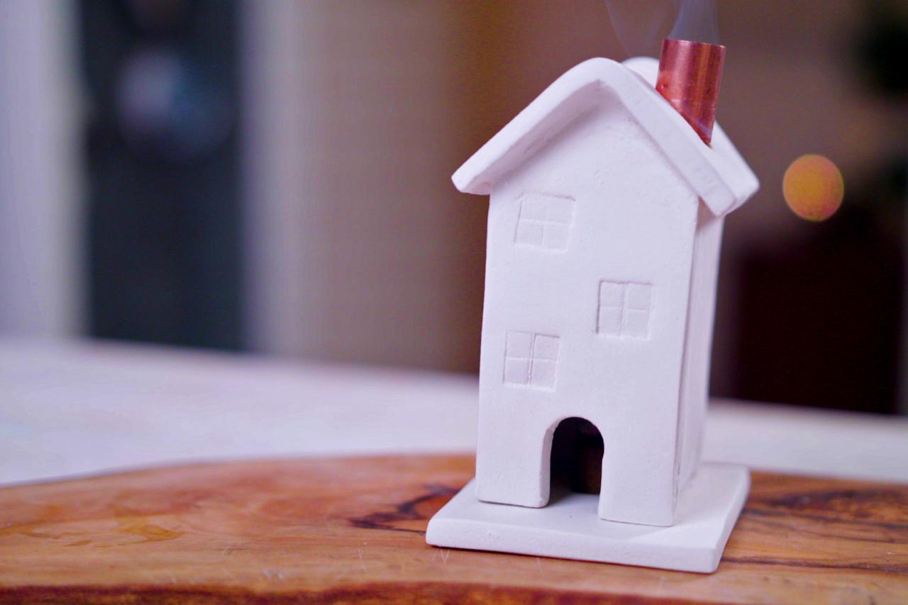 Diy Clay Incense House Burner Hgtv