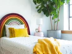 DIY Rainbow Headboard
