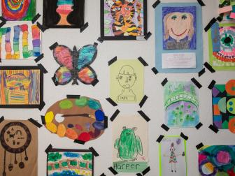 Kids' Art Gallery Wall