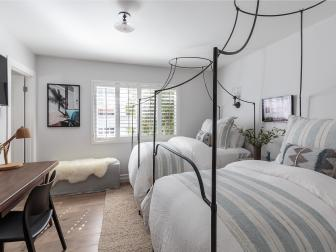 Guest Room With Double Canopy Beds