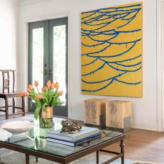 Yellow Art and Coffee Table