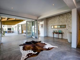 Modern Entryway With Concrete Floors