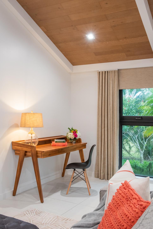 Modern Desk In Living Room | HGTV