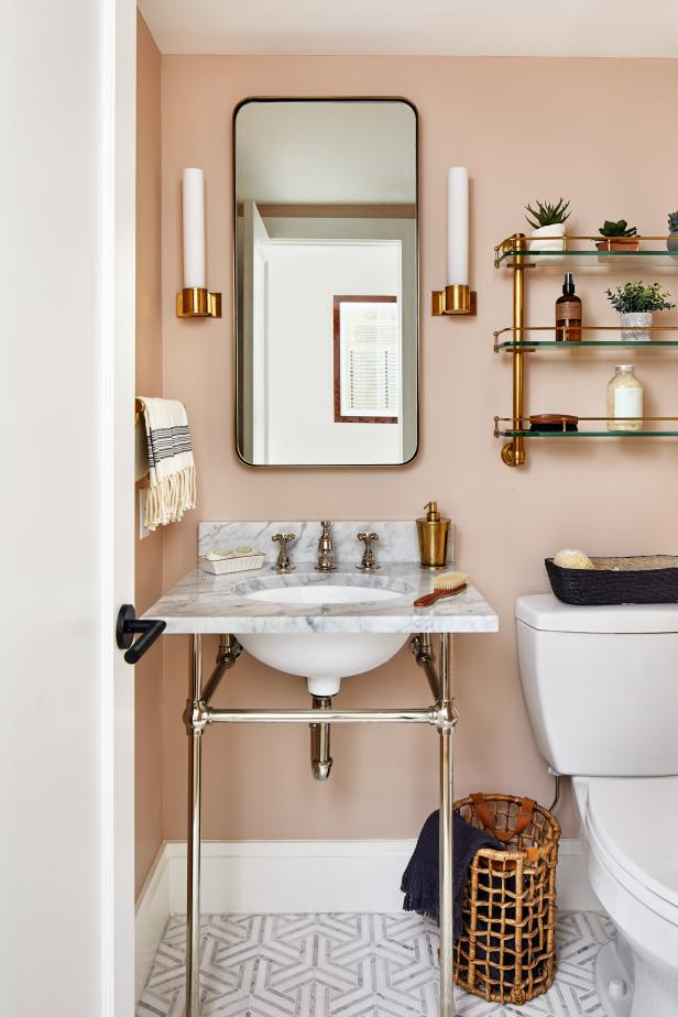 Pink Small Bathroom