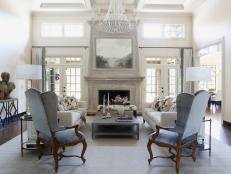 Architectural Interest in Stately Living Room