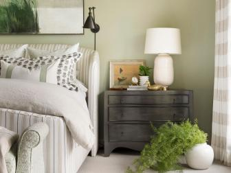 Bedroom Presents Neutral Patterns for Understated Interest