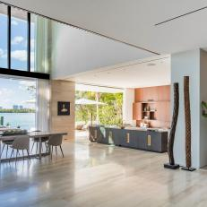 Full Walls of Glass for Waterside Living Areas