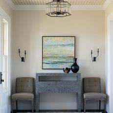 Contemporary Foyer With Seating