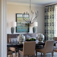 Contemporary, Cozy Dining Room