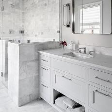 En Suite Bathroom With Marble Accents