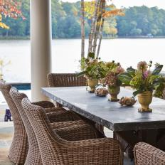 Rustic Outdoor Dining Table and Chairs