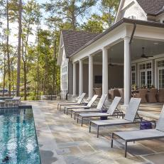Lakeside Covered Patio with Swimming Pool