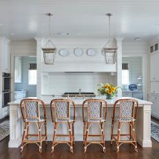 Traditional Kitchen With Four Seats at Island