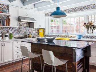 Eat-In Kitchen With Mosaic Tile