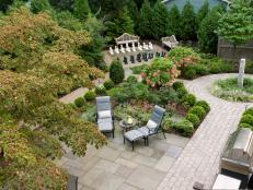 Overhead View of Garden to the Southwest