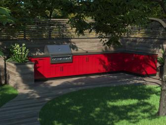 Outdoor Kitchens Go Colorful