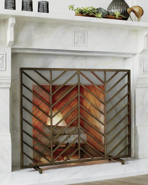 12 Freestanding Fireplace Screens In 2020 Hgtv