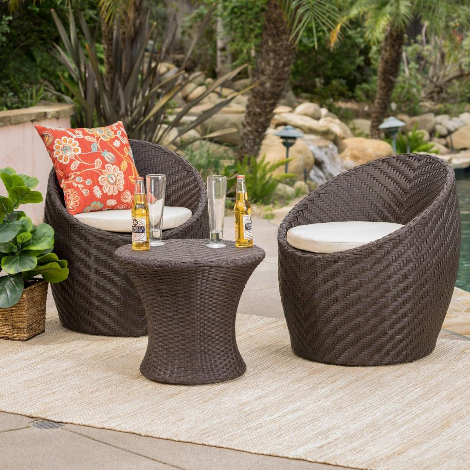 white chairs sets outdoor furniture for small spaces | Best Patio Furniture Under $500 - HGTV.com | HGTV