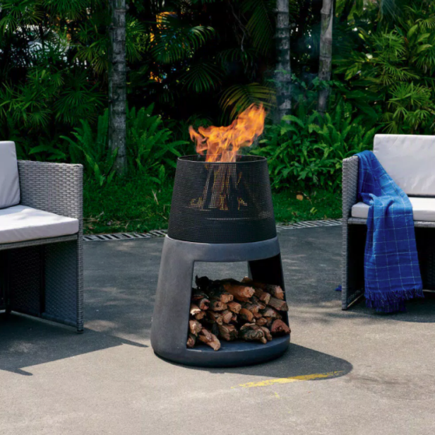 10 Best Chiminea Fire Pits For Your Backyard Clay Steel And More Hgtv