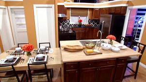 Superbe Split Level Kitchen Island 01:13