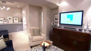 Basement Media Room and Playroom Makeover