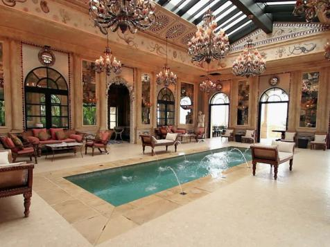 French-Inspired Pool Room
