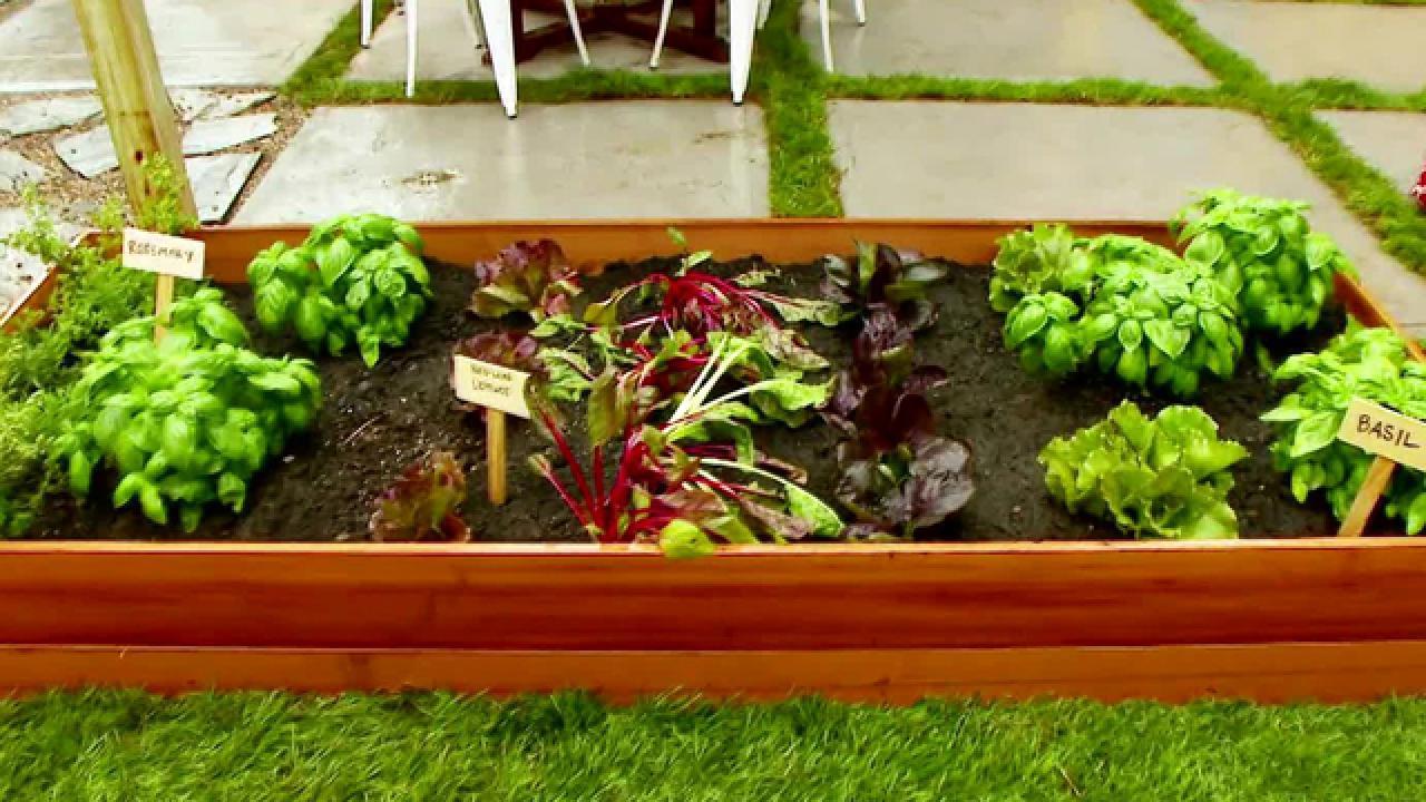 A Home For Your Veggies Make A Raised Garden Bed Hgtv
