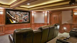 Basement Theater or Media Room