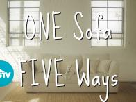 Style a Sofa Five Ways