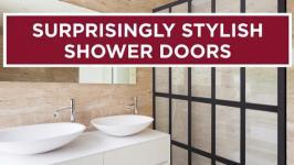 Surprisingly Stylish Shower Doors 01:12