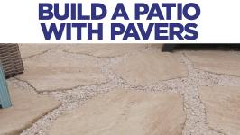 how to build a brick paver patio hgtv