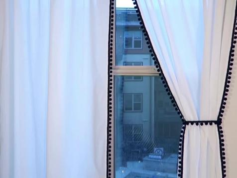 DIY Pom-Pom Window Curtains