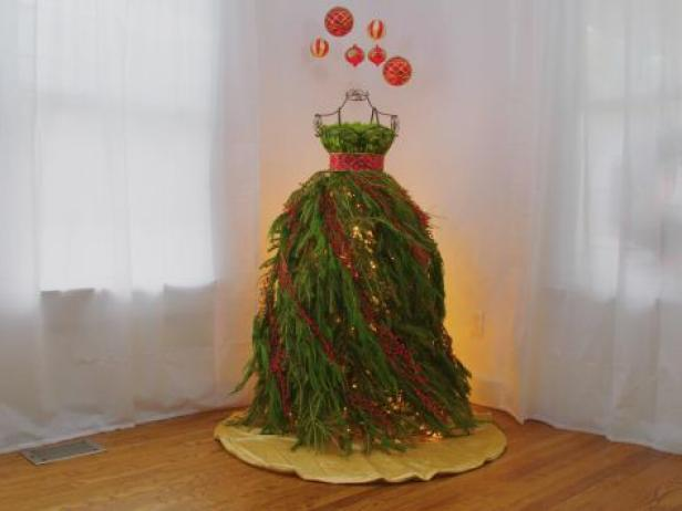 dress form christmas tree video hgtv